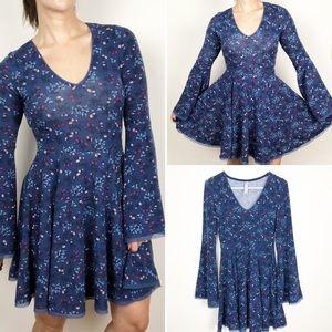 American Rag blue floral skater dress
